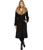 Steve Madden - Wool Blend Maxi Coat w/ Faux Fur Collar