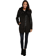 Steve Madden - Faux Shearling Coat w/ Faux Fur Collar