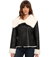 Steve Madden - Asymetric Zip PU Shearling Jacket