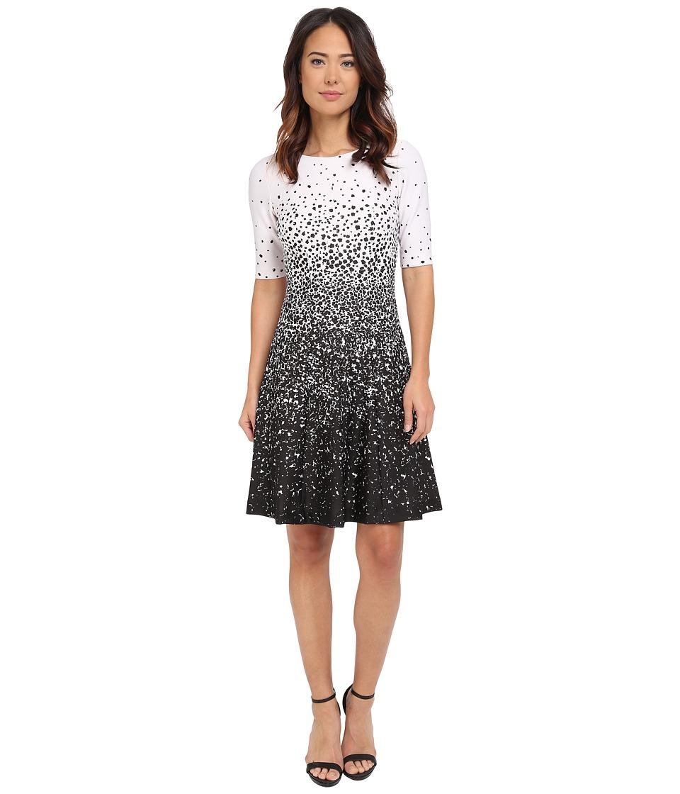 Tahari by ASL Lisa L Dress Ivory White/Black Womens Dress