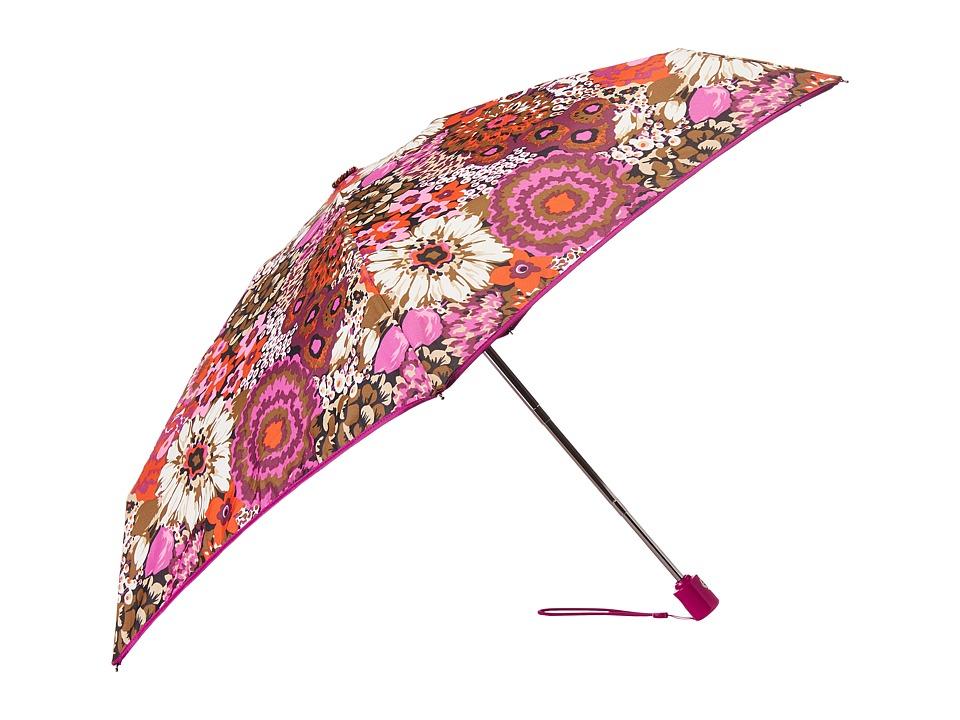 Vera Bradley Automatic Mini Umbrella Rosewood Umbrella