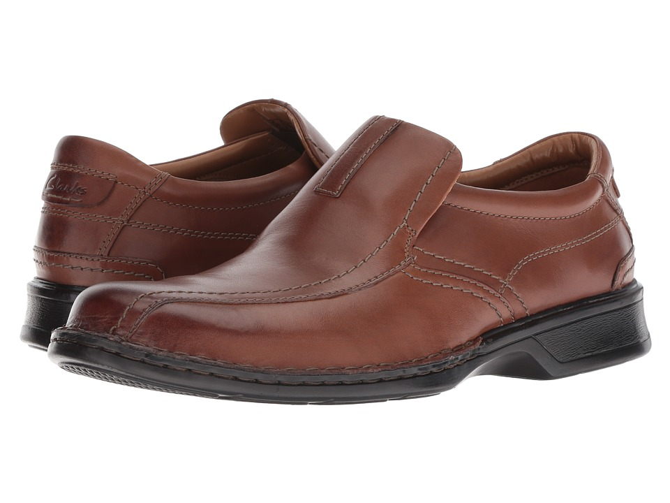 Clarks - Escalade Step (Brown Leather) Men