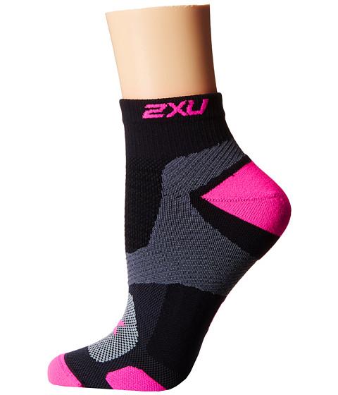 2XU Training VECTR Sock - Black/Fluro Pink