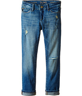 DL1961 Kids - Harper Boyfriend Unstitched Cuffed Jeans in Meerkat (Big Kids)