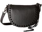 Rebecca Minkoff Unlined Saddle Bag (Black)