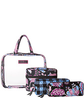 Vera Bradley Luggage - Four-Piece Cosmetic Organizer