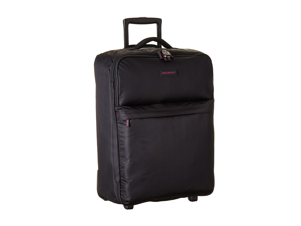 Vera Bradley Luggage - Large Foldable Roller (Black) Suiter Luggage