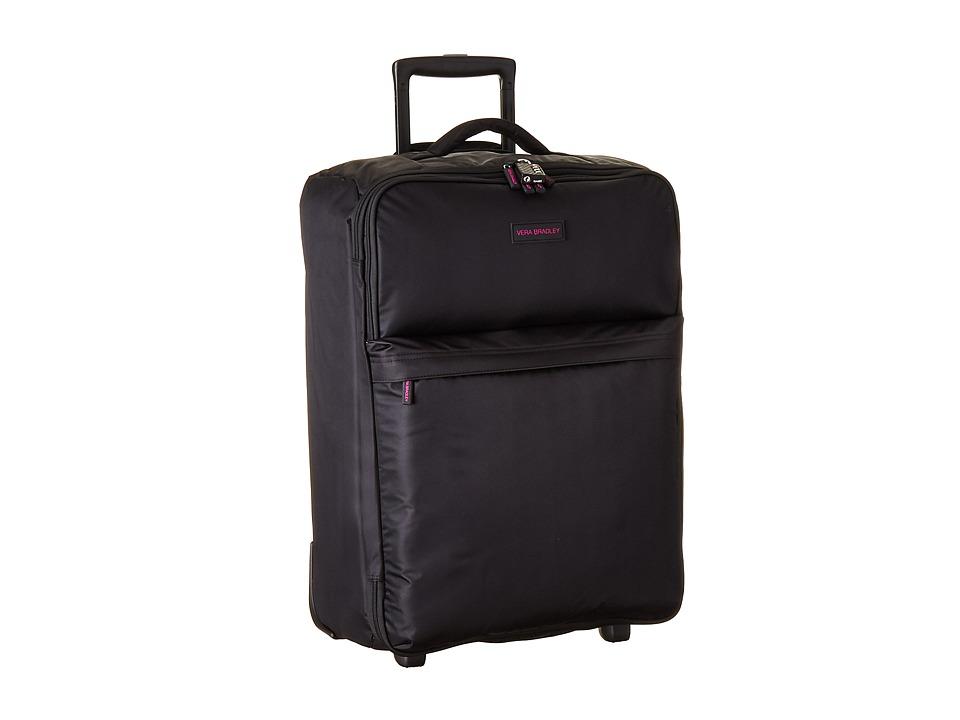Vera Bradley Luggage - Large Foldable Roller (Black) Suiter Luggage