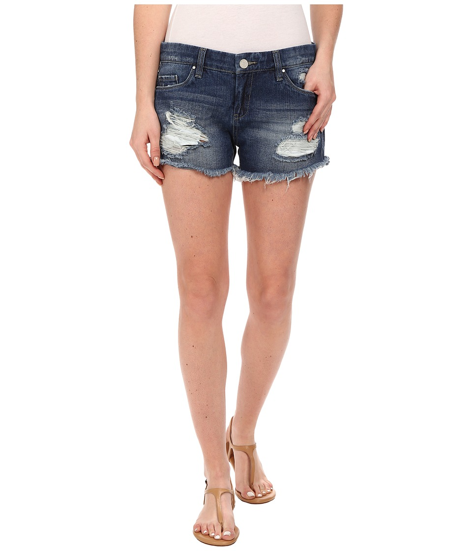 Blank NYC - Denim Ripped Cut Off Shorts in String Dance