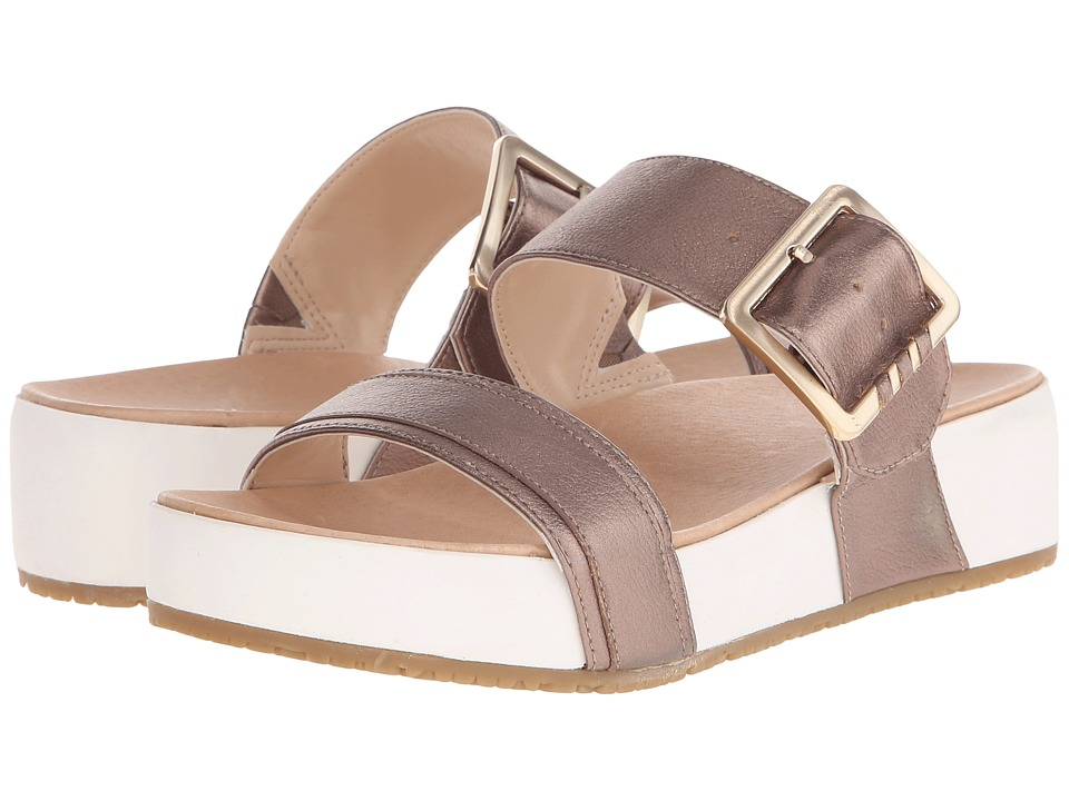 Dr. Scholls Frill Original Collection Molten Pewter/White Bottom Womens Sandals