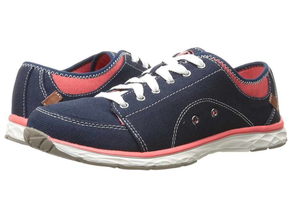 Dr. Scholls Anna Navy Canvas Womens Lace up casual Shoes