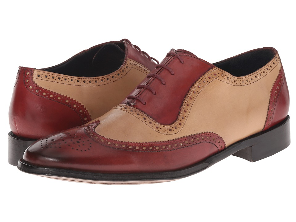 1960s Mens Shoes- Retro, Mod, Vintage Inspired Messico - Capuchino CherryBone Leather Mens Dress Flat Shoes $145.00 AT vintagedancer.com