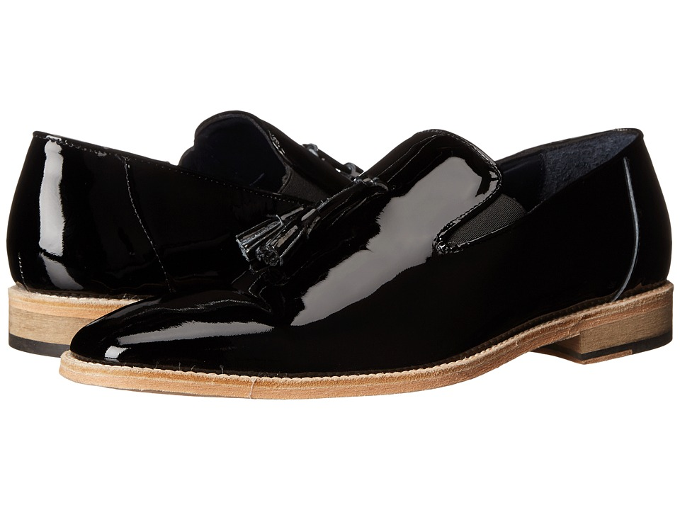 Messico Berriz Black Patent Leather Mens Shoes