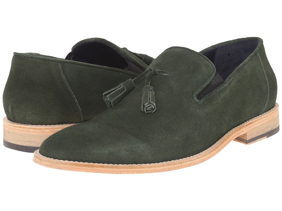 Messico Berriz Green Suede Leather Mens Shoes