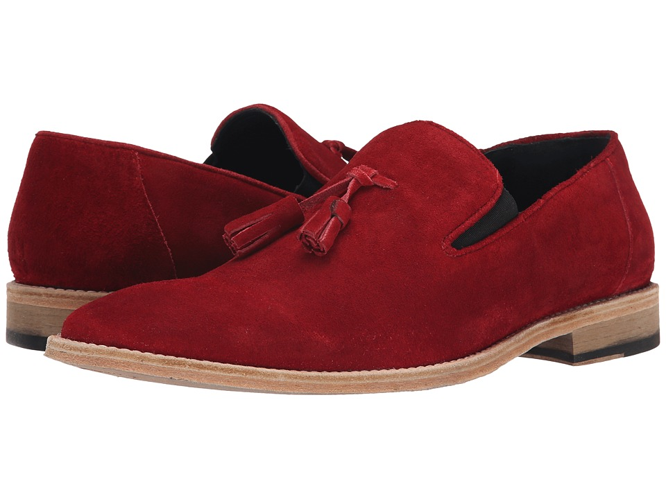 Messico Berriz Red Suede Leather Mens Shoes
