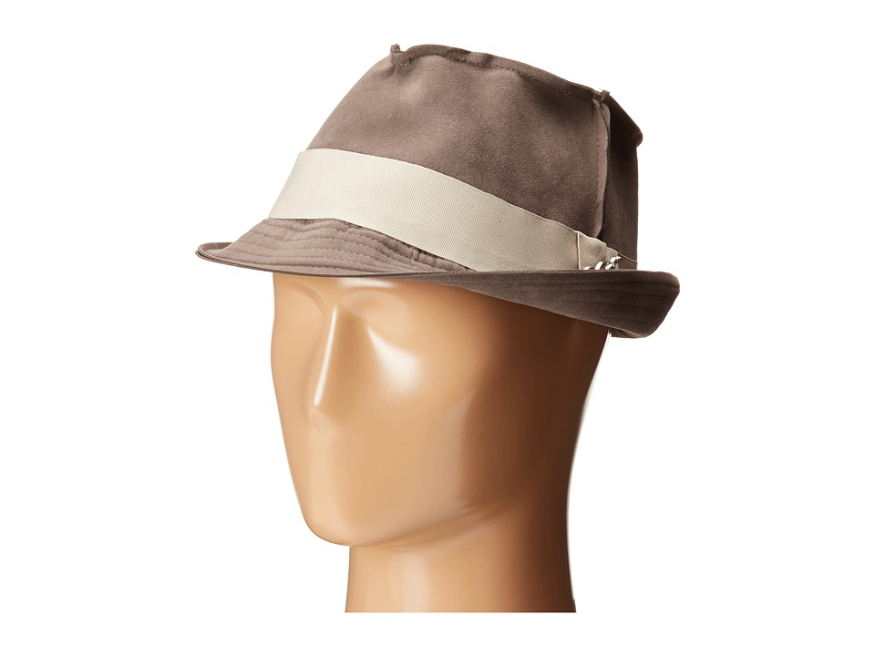 CARLOS by Carlos Santana Fedora with Grograin Trim Grey Fedora Hats