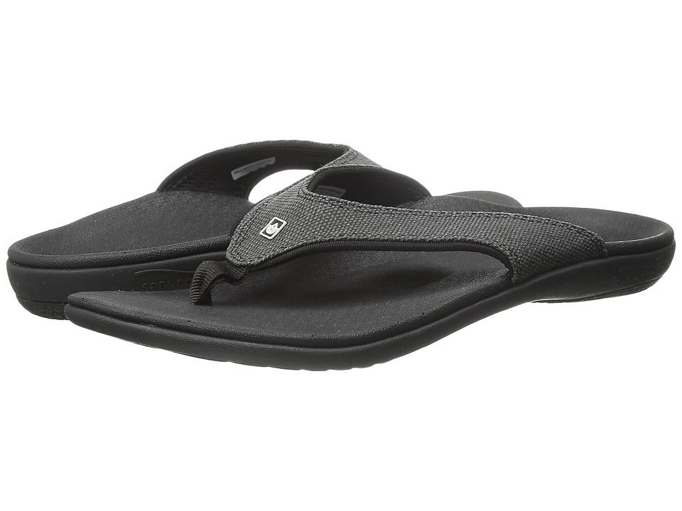 Spenco Yumi Canvas (Black) Women's Toe Open Shoes