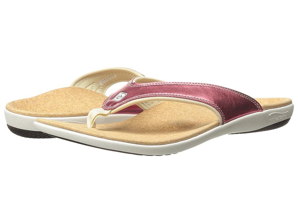 Spenco Yumi Metallic (Salmon) Women's Dress Sandals