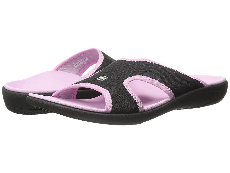 Spenco Kholo Breeze Black/Pink Womens Shoes