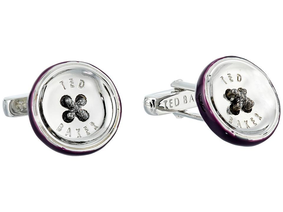 Ted Baker Bcuff Button Cufflinks Purple Cuff Links