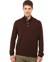 Thomas Dean & Co. - Long Sleeve Sweater Italian Extra-Fine Merino Quarter Button