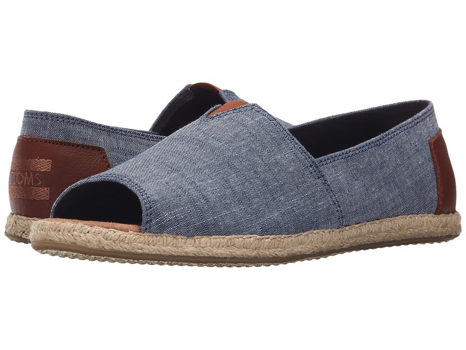 TOMS Alpargata Open Toe Chambray 2 Womens Flat Shoes