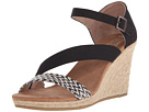 TOMS - Clarissa Wedge (Black White Woven/Rope)