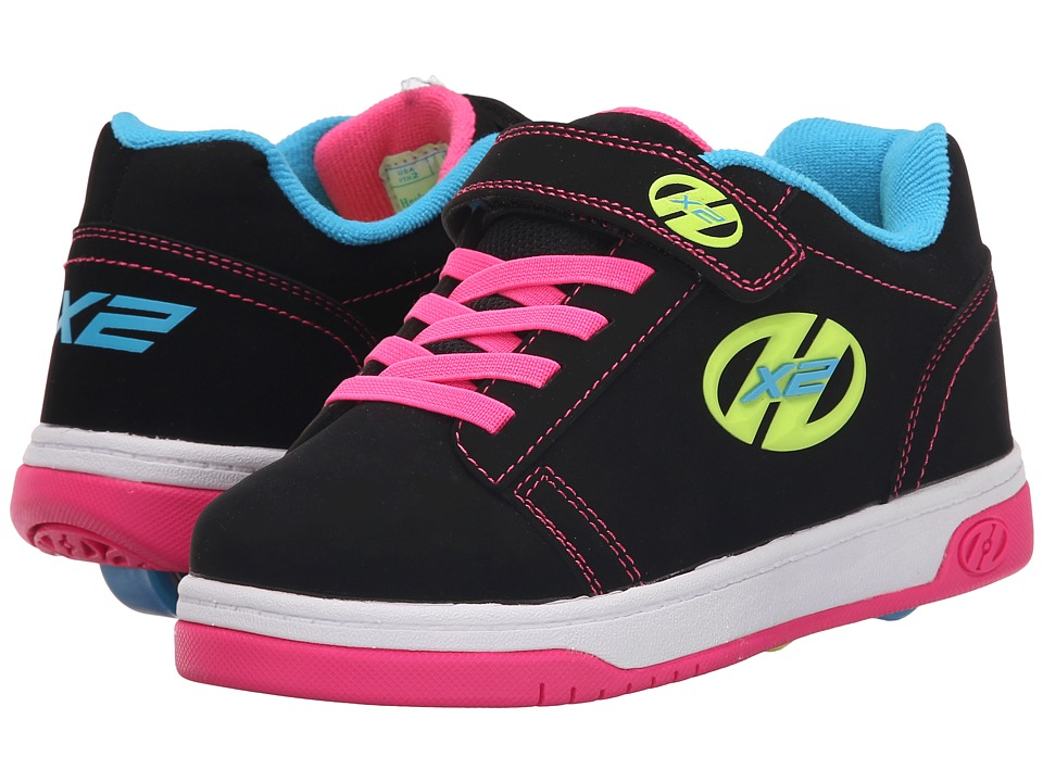 Heelys Dual Up X2 (Little Kid/Big Kid/Adult) (Black/Neon Multi) Girls Shoes