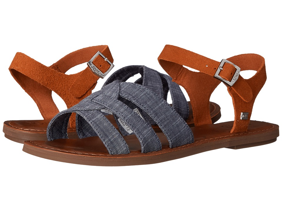 TOMS Zoe Sandal Chambray Brown Suede Womens Sandals