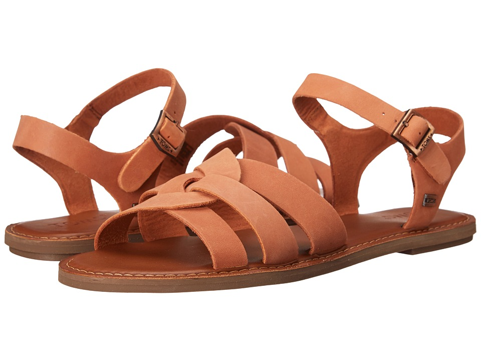TOMS Zoe Sandal Brown Leather Womens Sandals