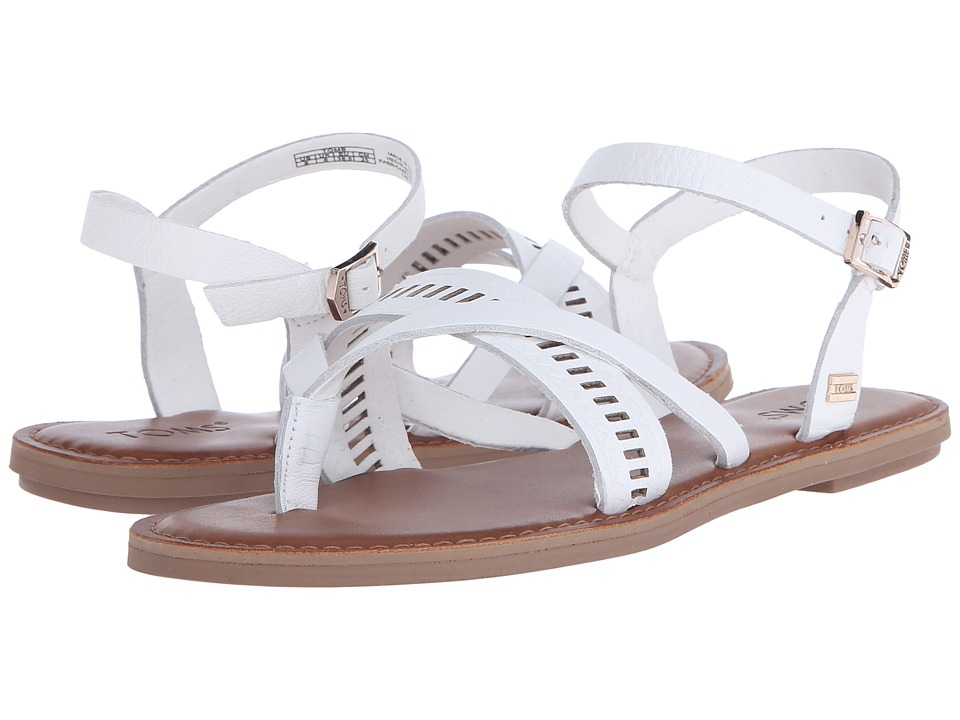 TOMS Lexie Sandal White Leather Womens Sandals