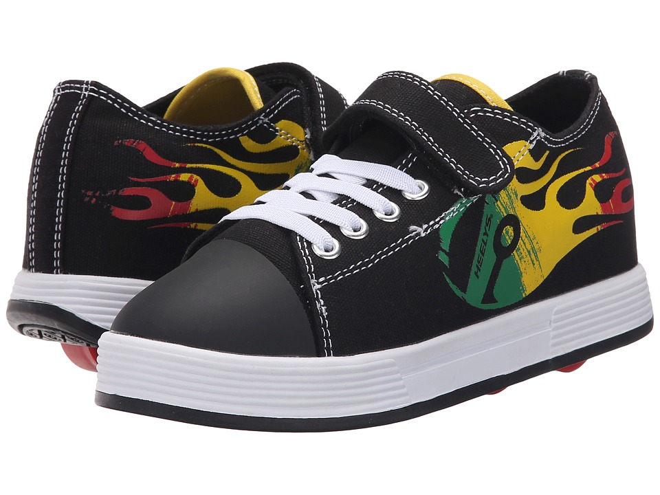 Heelys Spiffy X2 Little Kid/Big Kid/Adult Black/Reggae Boys Shoes