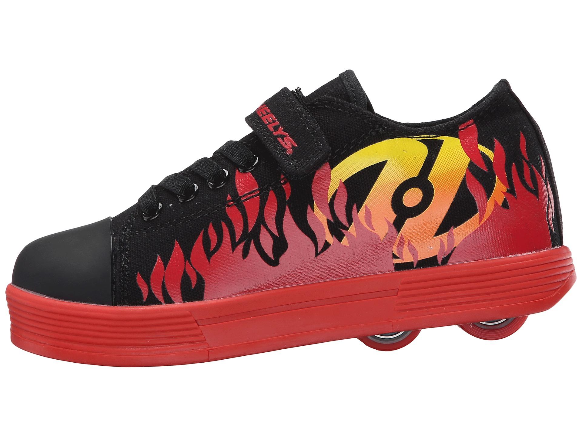 Heelys Spiffy X2 (Little Kid/Big Kid/Adult) Black/Red ...