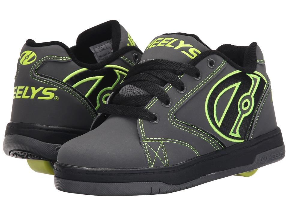 Heelys Propel 2.0 Little Kid/Big Kid/Adult Grey/Black/Bright Yellow Boys Shoes