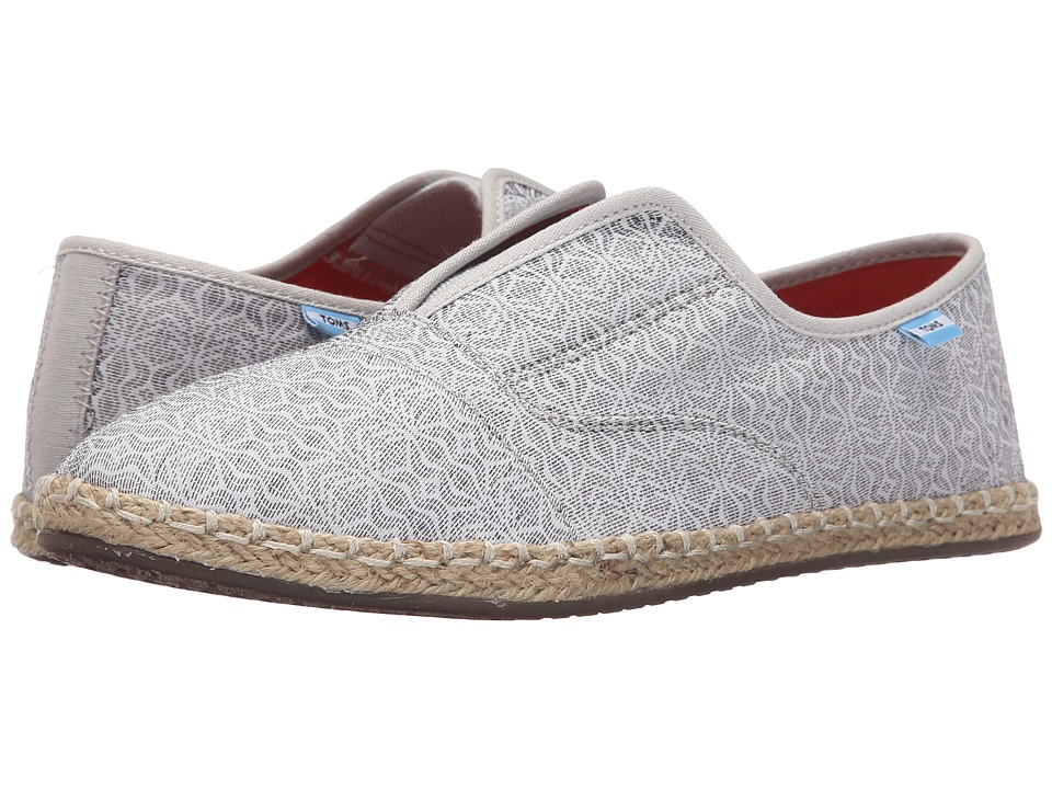 TOMS Palmera Slip On Grey Tribal Womens Flat Shoes