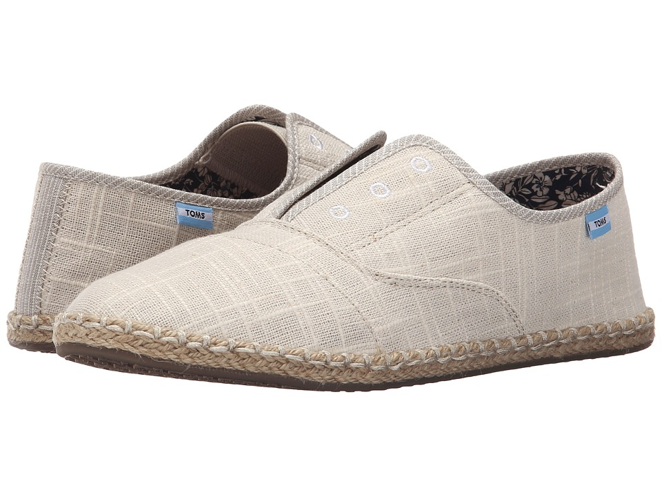 TOMS Palmera Slip On Natural Linen Womens Flat Shoes