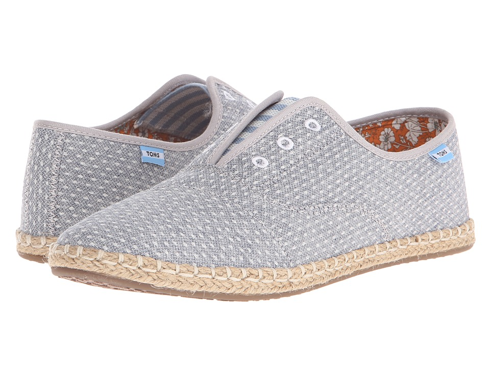 TOMS Palmera Slip On Chambray Dot Womens Flat Shoes