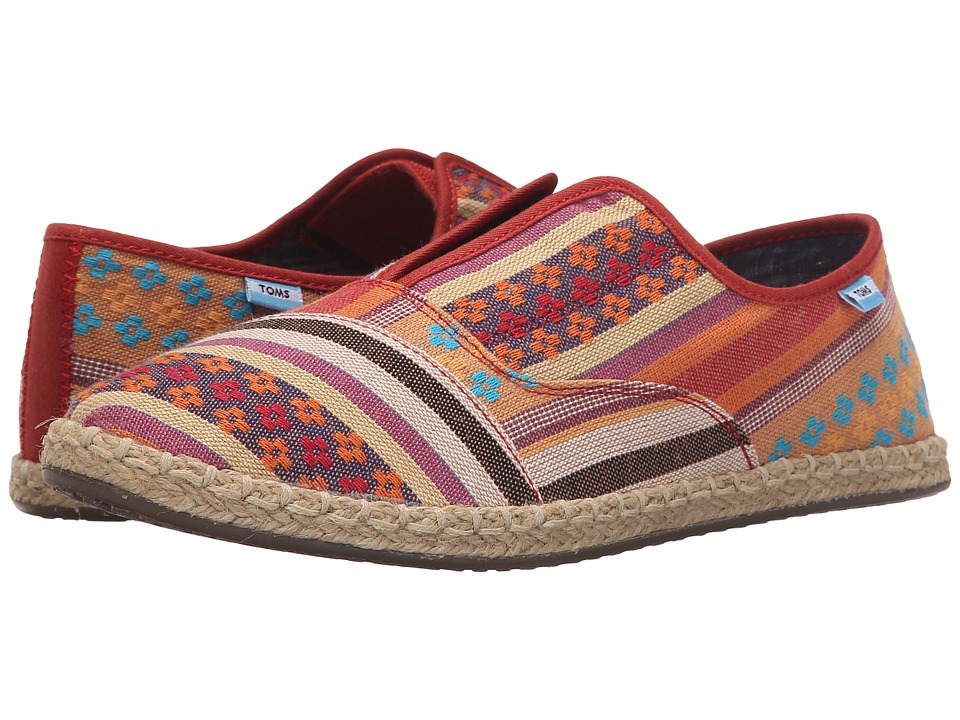 TOMS Palmera Slip On Cayenne Multi Stripe Womens Flat Shoes