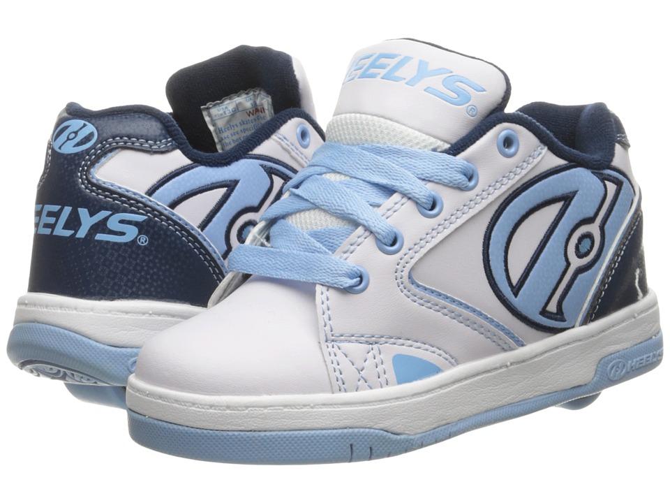 Heelys Propel 2.0 Little Kid/Big Kid/Adult White/Navy/Powder Blue Girls Shoes