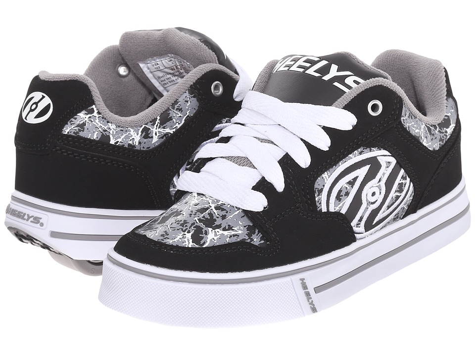 Heelys Motion Plus Little Kid/Big Kid/Adult Black/Grey/Electricity Boys Shoes