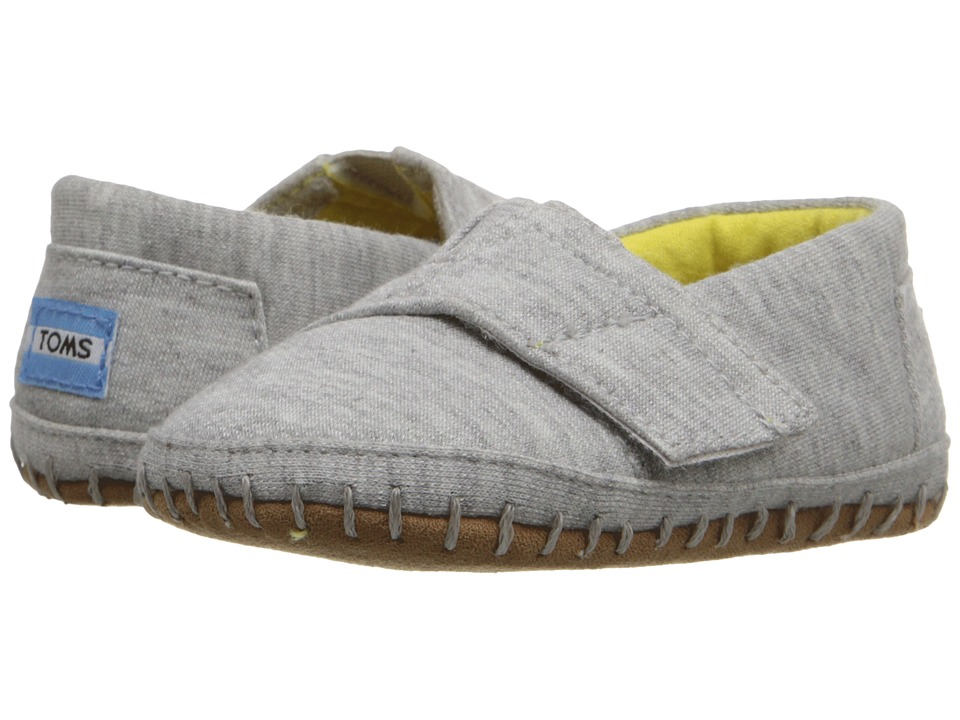 TOMS Kids Crib Alparagata (Infant/Toddler) (Grey Jersey) Kid's Shoes