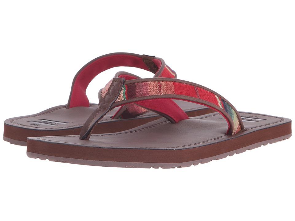 TOMS - Solana Flip Flop (Brown Multi Textile) Womens Sandals