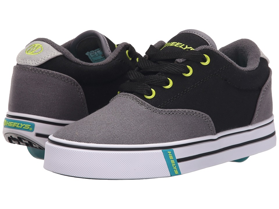 Heelys Launch (Little Kid/Big Kid/Adult) (Charcoal/Black/Lime) Boys Shoes