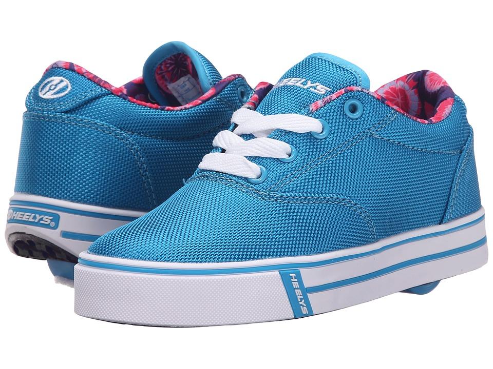 Heelys Launch Little Kid/Big Kid/Adult Ocean Blue/Printed Line Girls Shoes