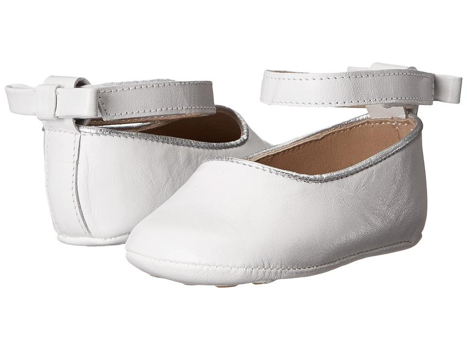 Elephantito Baby Ballet Flat Infant/Toddler White Girls Shoes