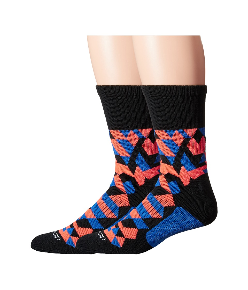 adidas Energy Camo Crew 2 Pack Socks Black/Blue/Solar Orange Mens Crew Cut Socks Shoes