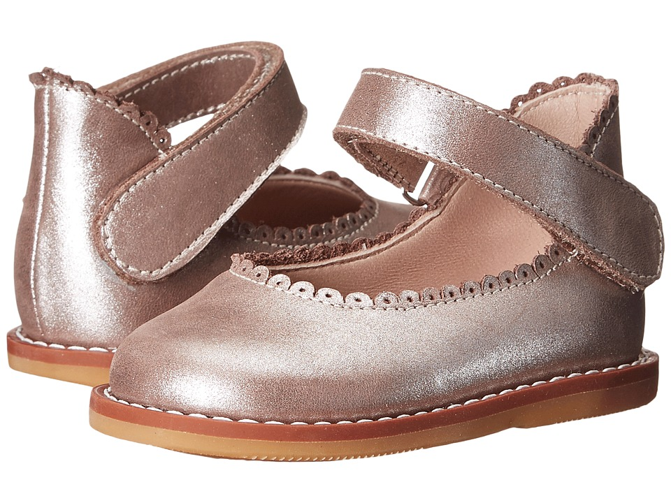 Elephantito Ballerina Infant/Toddler Metallic Rose Girls Shoes