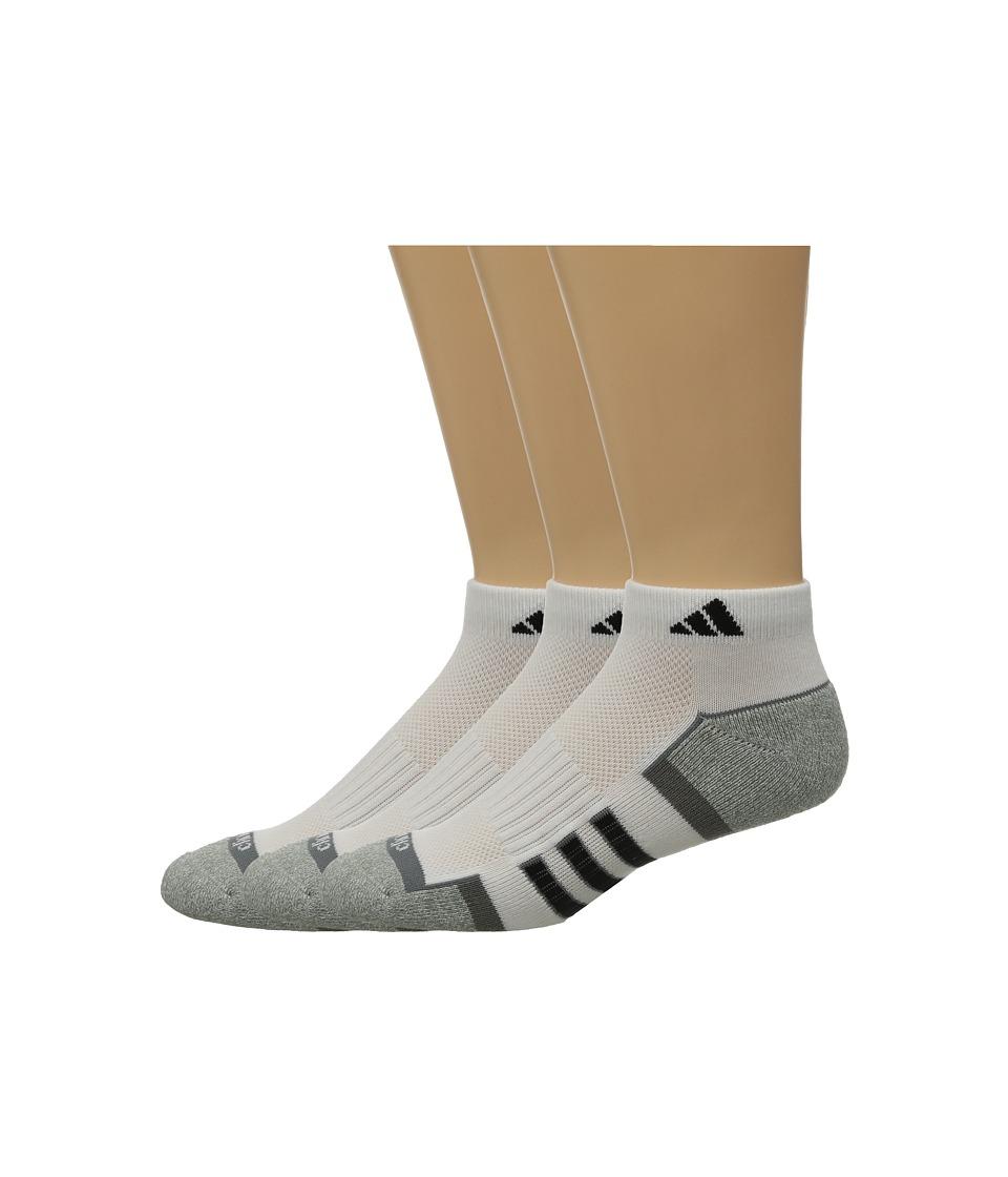 adidas Climalite II 2 Pack Low Cut Socks White/Aluminum 2/Black/Medium Lead/Aluminum 2 Marl Mens Low Cut Socks Shoes