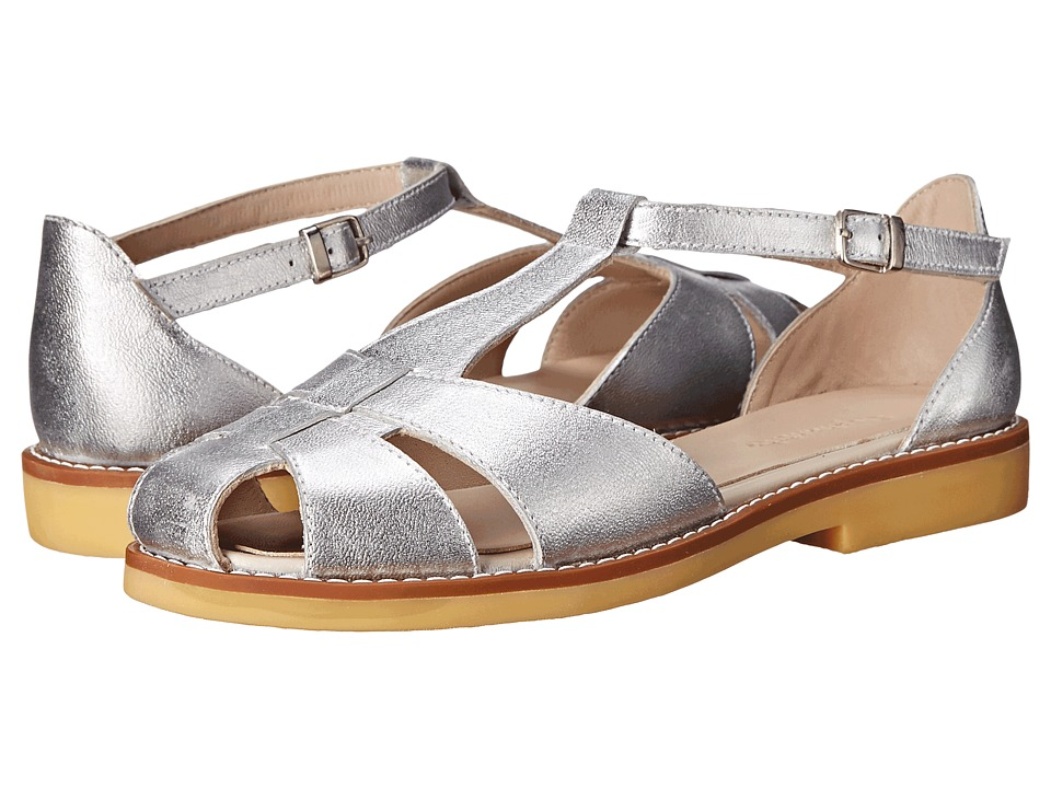 Elephantito Eli Sandal Toddler/Little Kid/Big Kid Metallic Silver Girls Shoes