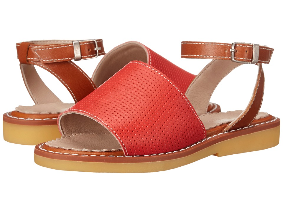 Elephantito Olivia Sandal Toddler/Little Kid/Big Kid Perforated L. Red Girls Shoes